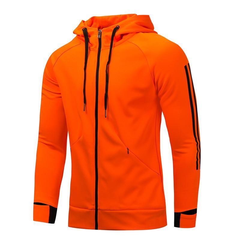 Terno Casaco Sports Outono E Inverno Casual Loose-Fit com capuz Cardigan Hoodie longo treinamento do futebol da luva Attir Negócios