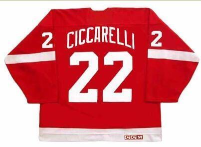 Donna-Uomo della gioventù Vintage # 22 Dino Ciccarelli Detroit Red Wings 1994 CCM Hockey Jersey di formato S-5XL o personalizzato qualsiasi nome o numero