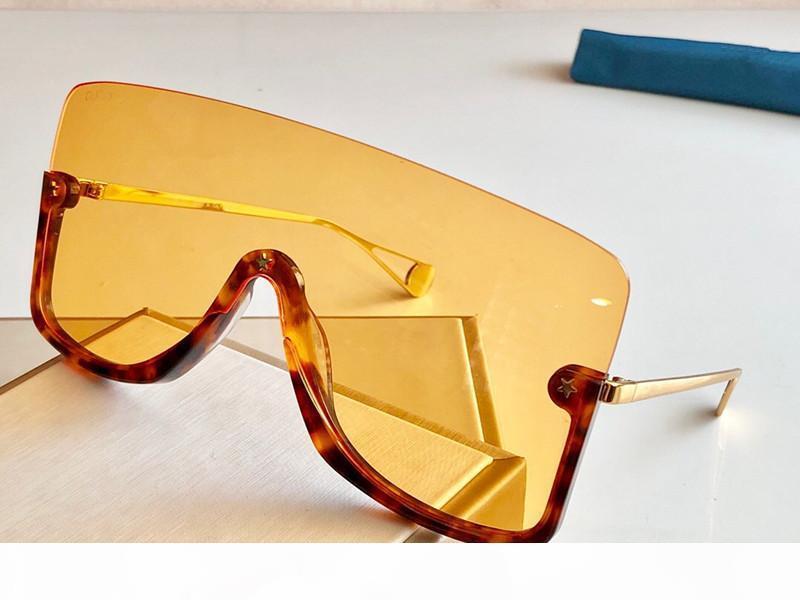 Nuovo stilista occhiali da sole 0540 dell'obiettivo collegato grandi dimensioni metà telaio con piccola stella d'avanguardia popolare superiore goggle qualità 0540S