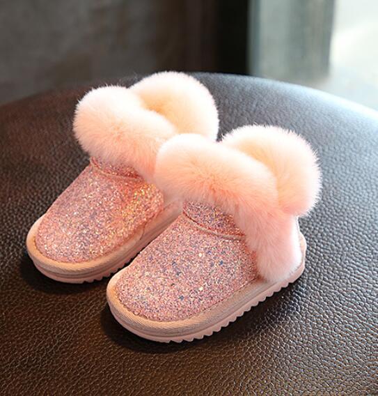 Acquista 2019 Inverno Bambini Moda Scarponi Da Neve Caldo Di Spessore Bambino Genuine Leather Morbido Peluche Bambine Inferiore Scarponi Stivali