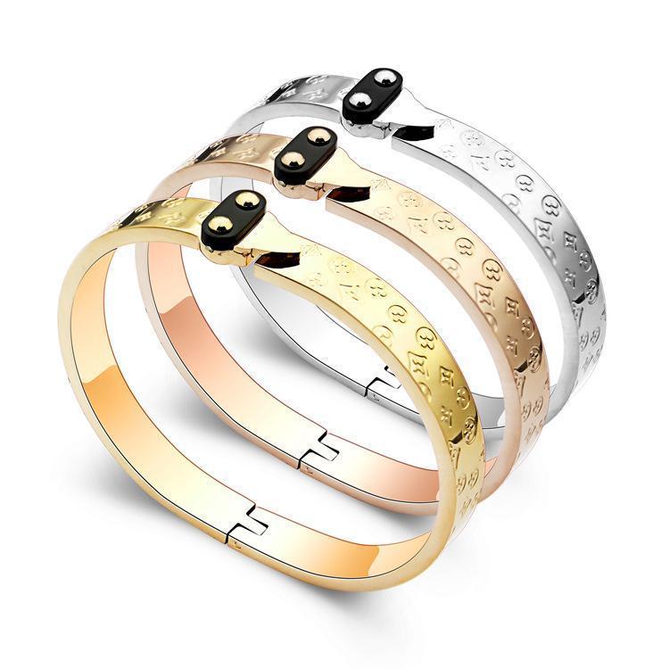 2020 concepteur flèche bracelet imprimé bracelet à quatre feuilles 18K or imprimé fleur à quatre feuilles bracelet bijoux version coréenne
