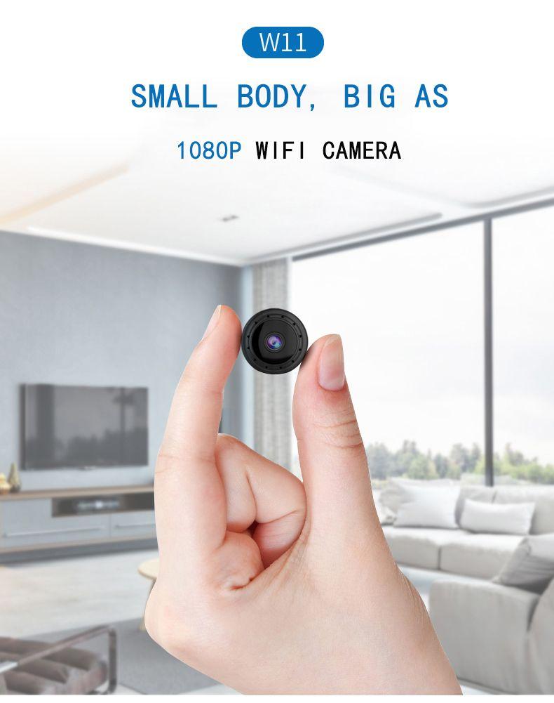 W11 WIFI Mini IP Camera HD 1080P Small mini DV DVR Night Vision Micro Camera Mobile Detection Sensor secret Camera support TF Card