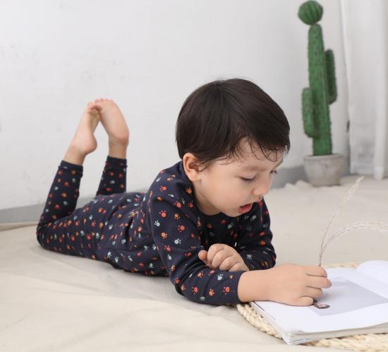 conjunto de ropa interior de algodón de la clase A los niños y niñas nuevos niños pijamas servicio a domicilio ropa de abrigo de otoño e invierno de los niños