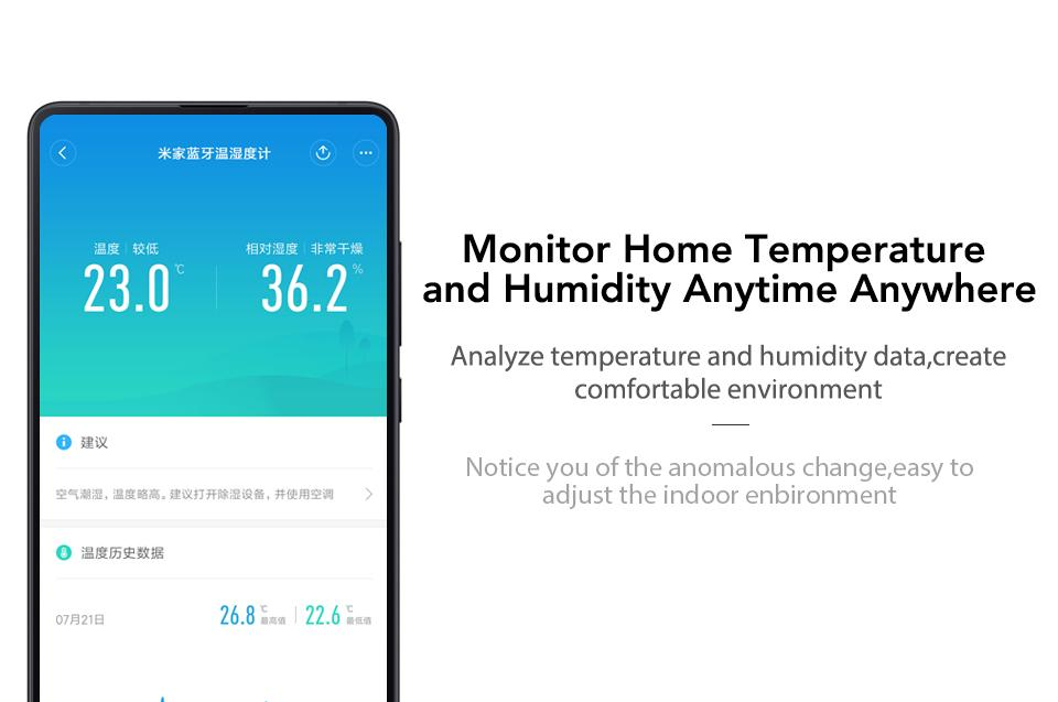 Xiaomi Mijia Bluetooth Temperature Humidity Monitor Sensor APP Control Built-in Sensor LCD Display Magnetic Stick Ultra-LowPower (4)