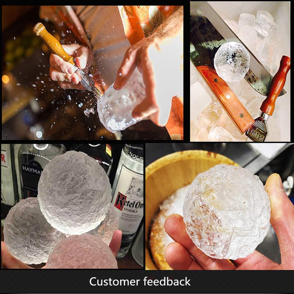 LMETJMA Buz cocktai KC0329 için Masif Sap Sağlam Buz Chipper Crusher'la Paslanmaz Çelik Buz Keski Kaldırma Pick, Seçim