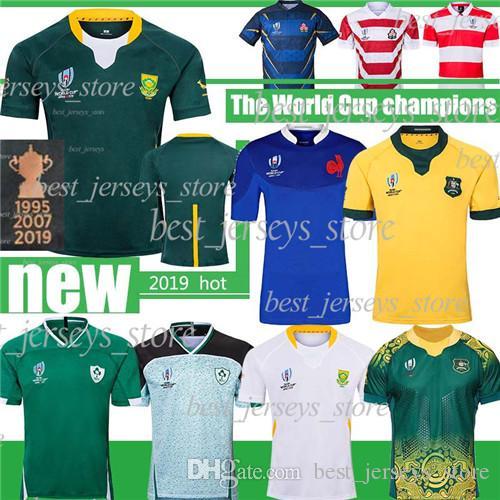 جنوب أفريقيا كأس العالم للرجبي بطل الفانيلة الحجم الكبير NRL 5XL الايرلندية فرنس أستراليا الرجال منتخب الرجبي الفانيلة