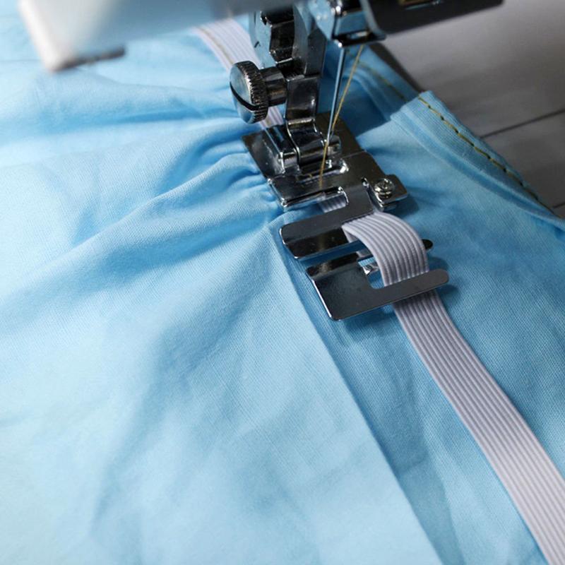 Notions de couture Outils 1 pièce Acier inoxydable Pied Pied Pièce domestique Pièce Élastique Accessoires