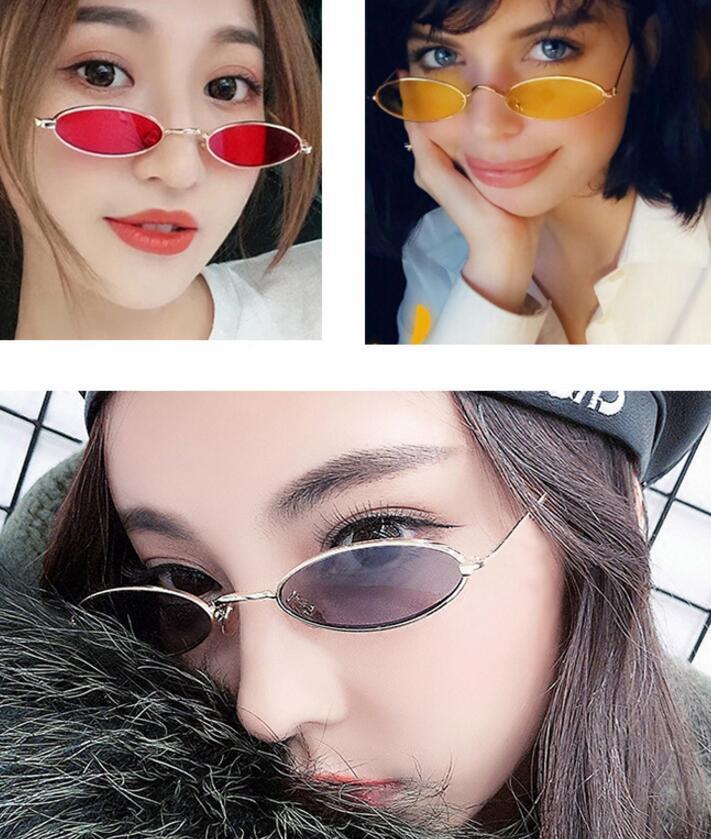 Ovale donne All'ingrosso-Modo montatura degli occhiali da sole piccoli bicchieri signore Retro vetro di Sun Nuovo
