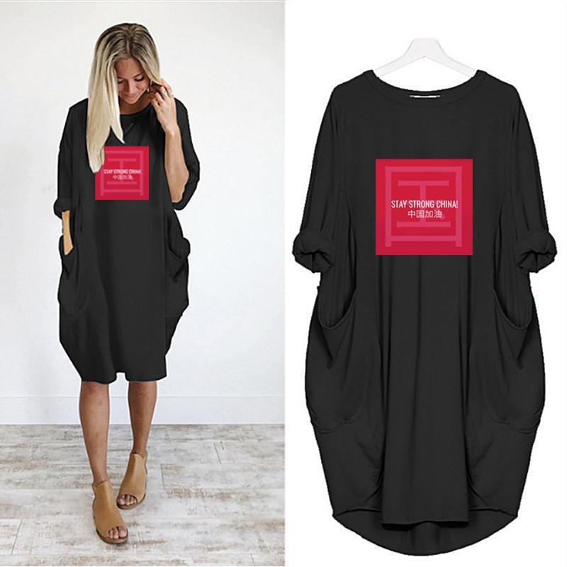 2020 Nueva Fahsion para mujer de diseño de gran longitud de las camisetas del verano sueltan transpirable para mujer paños de bricolaje impresión de alta calidad del tamaño extra grande para mujer camisetas