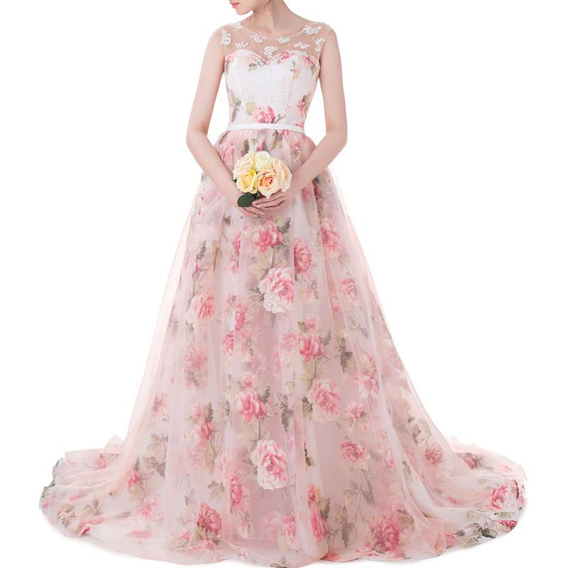Girls stage performance beautiful prom ball gown fairy beautiful embroidery flowers A skirt hem bandage party pink evening dress