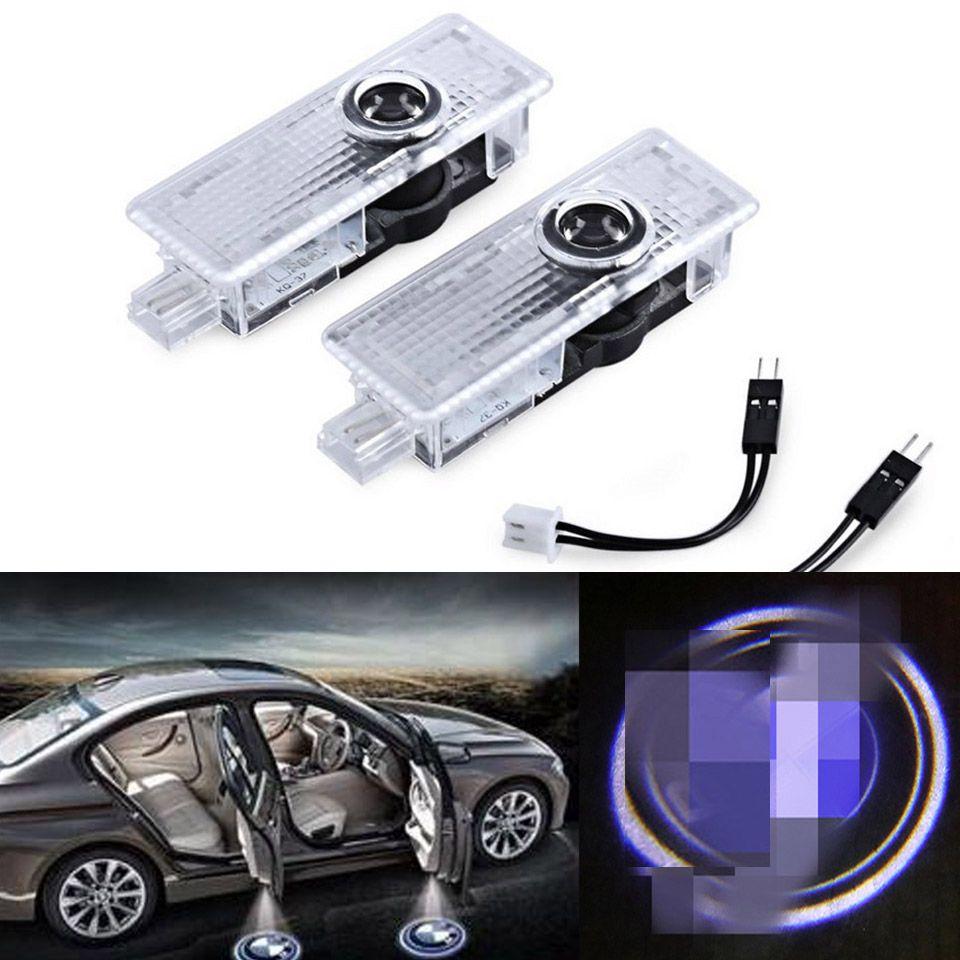 لسيارات BMW E91 E92 E93 M3 E65 E66 E67 E68 F01 F02 E63 E64 F12 F13 M6 Logo Door 3D LED Laser Projectory Welcome Ghost Shadow Light 6500K