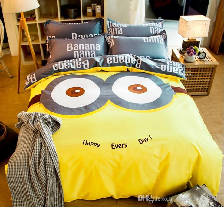 All Cotton Bedding Four Piece Set Of All Cotton Cartoon Bed Sheet Childrens School Set Quilt Set Kids Full Size Sheets Queen Bedding For Boys From Angerbaby6789 33 17 Dhgate Com
