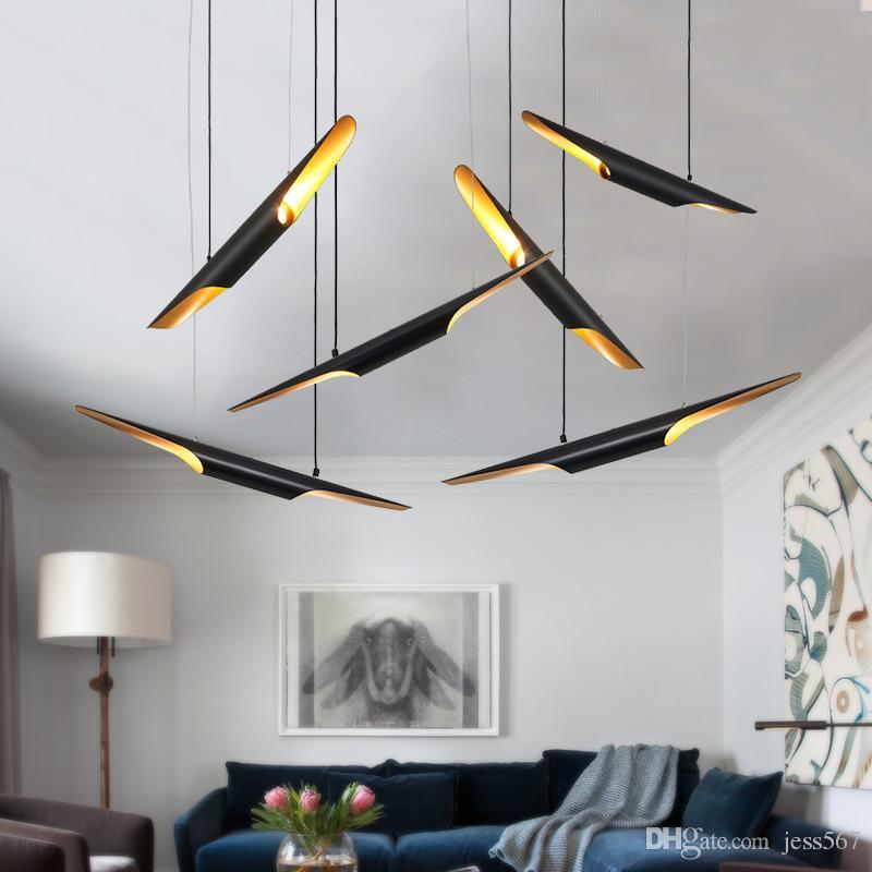 One cobobo creative 6 10 head pendant light Aluminum meals tube type meals modern droplight fashion E27 4W LED lamp AC85-265V