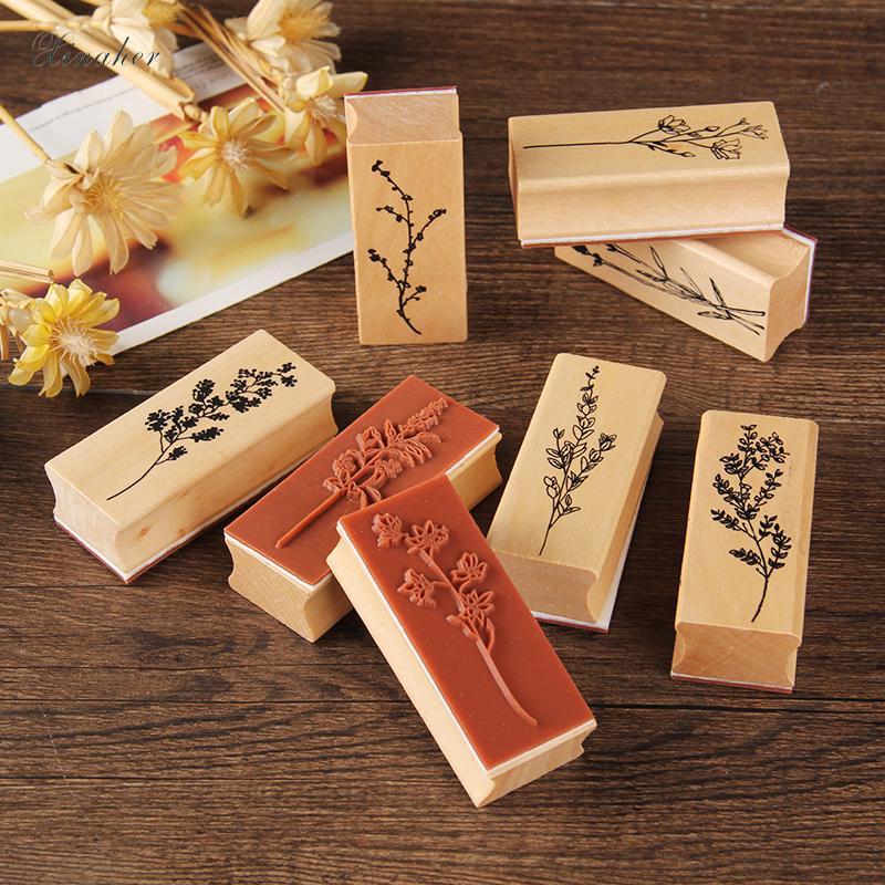 plantas da grama do vintage selo selos de borracha de madeira DIY para scrapbooking papéis scrapbooking selo padrão