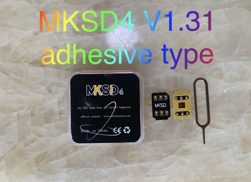 iPhone 5S SE2 6 6 6 g 7 G 8 X XS XR XS MAX 11 12 PRO MAX VSIM Geveyのための新しいMKSD4 LTE 4G 5G Proのロック解除SIMカード3Mの接着剤ステッカー