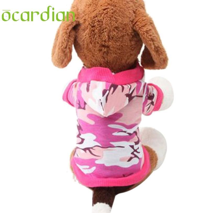 Ocardian дешевые одежда для собак футболка футболка толстовка камуфляж пальто толстовки собаки домашние животные Одежда
