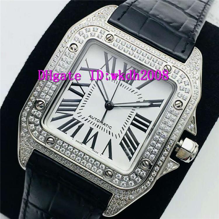 EG Top Алмазные швейцарские часы ETA 2824 автоматические механические мужские часы 28800 полуколебаний нержавеющей стали 316L Проектировщик Часы Сапфир Водонепроницаемый