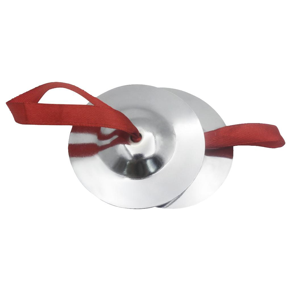 Dedo 2pcs Ferro Belly Cymbals prata Dança Musical Instrument