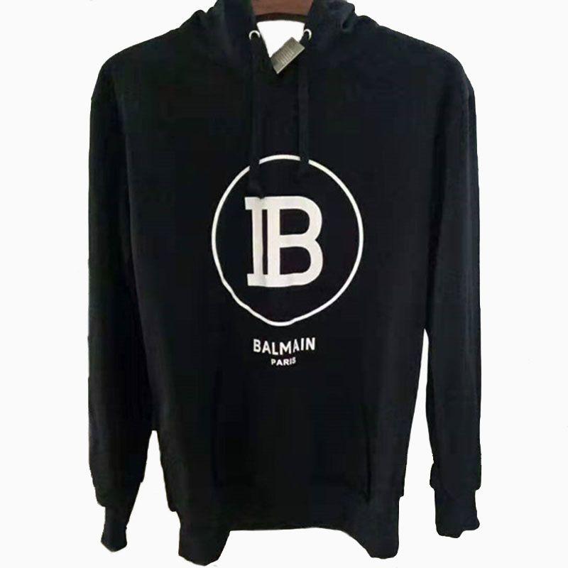 19FW Balmain Mens Hoodie Stylist Hoodie High Quality Loose Fit Men Women Hip Hop Hoodies Sweatshirt Size M-2XL