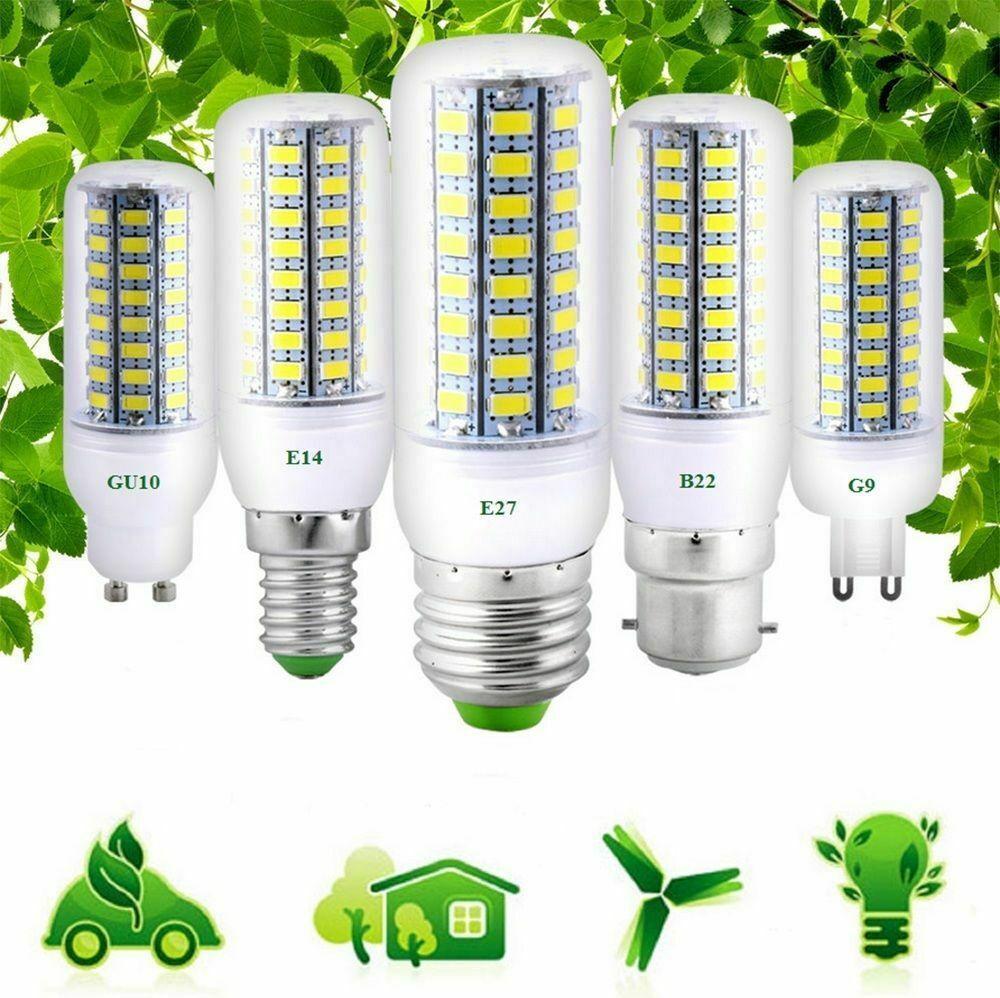 Chegada Nova projectores LED Lighting E27 E14 5730 SMD LED milho bulbo 3W 5W luz branca da lâmpada branca quente AC110V / 220V