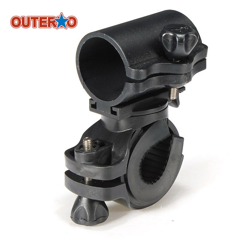 Portable Cycling Bike Bicycle Light Lamp Stand Holder Rotation Grip Led Flashlight Torch Clamp Clip Mount Bracket