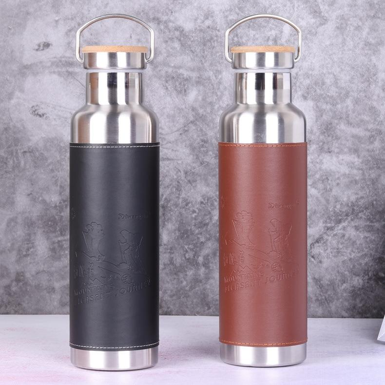 Portable 700ML Stainless Steel Water Bottle Double Wall Vacuum Flask Bottle Tthermos Bottle Travel Mug Thermocup