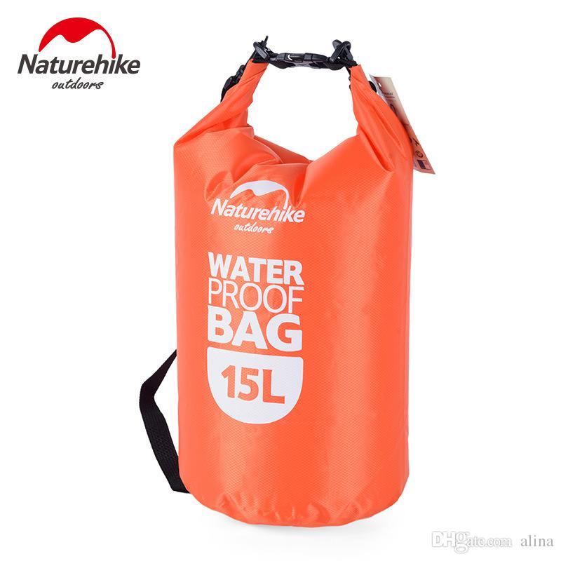 15L Ultra-tragbare wasserdichte Reisetaschen 4 Farben NatureHike im Freien treiben Schwimmen wasserdichte Taschen Rot / Blau / Orange / Grün