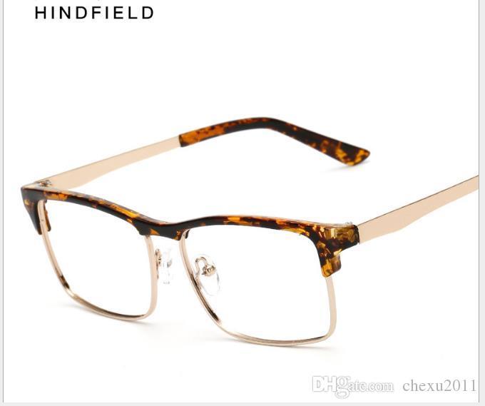 Gafas retro de negocios con montura de gafas para hombres y mujeres gafas para cejas