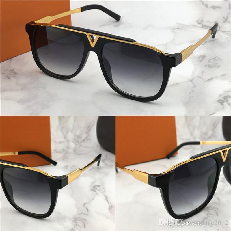 2019 새로운 뜨거운 판매 인기있는 패션 남자 디자이너 선글라스 0937 사각형 플레이트 금속 조합 프레임 최고 anti-UV400 렌즈 상자