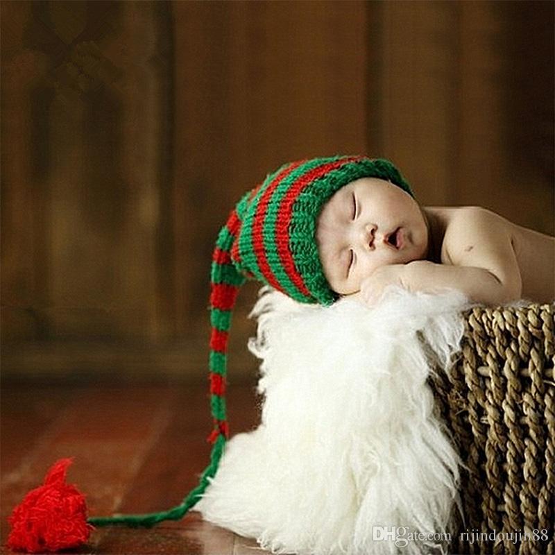 التصوير الفوتوغرافي الدعائم حديثي الولادة طفل بوم بوم قبعة مع ذيل طويل متماسكة قبعة صغيرة قبعة مقلم الرماية الرماية fotografie صور الدعائم الملحقات