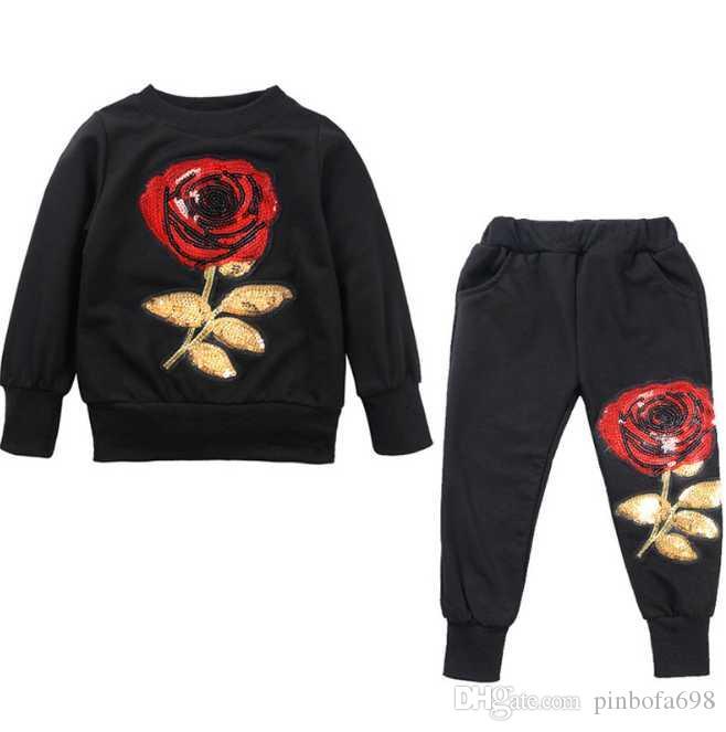 SATIŞ Bebek Boys And Girls Suit Marka eşofman 2 Çocuk Giyim Seti Sıcak Moda İlkbahar Sonbahar Çocuk Elbise Uzun Kollu 1-4Years Sat