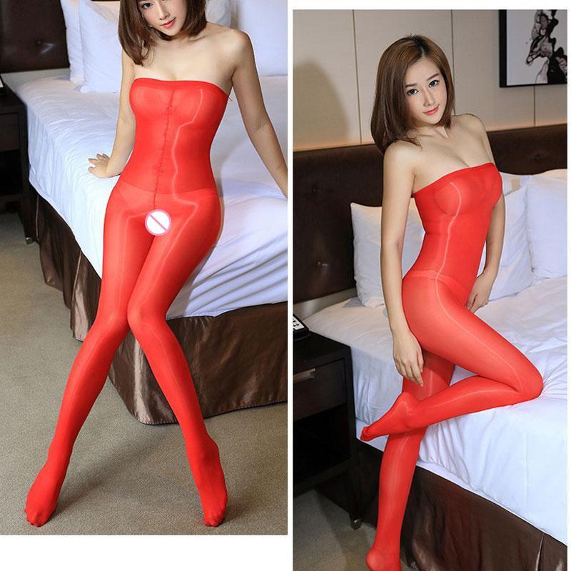 Sexy Mulheres 8D Abra Crotch Brilhante Shaping Bodyhose brilhante Meias Oil Glossy cintura alta calça Sexy lingerie calças justas F20