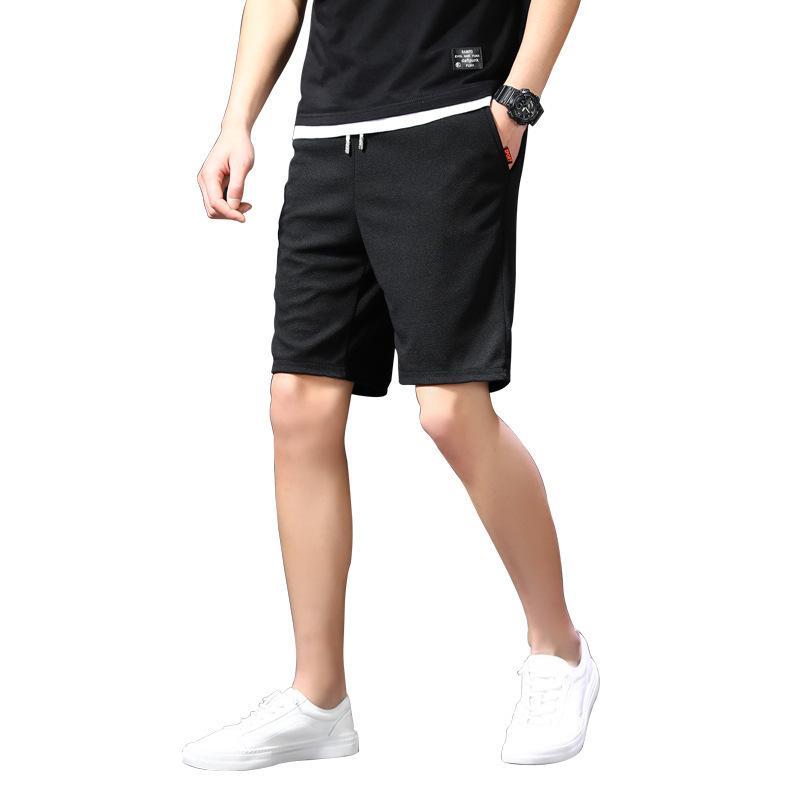 Mens Del Progettista alla moda di colore solido casual di grandi dimensioni 5-Point shorts semplice del tutto-fiammifero 5-Point shorts