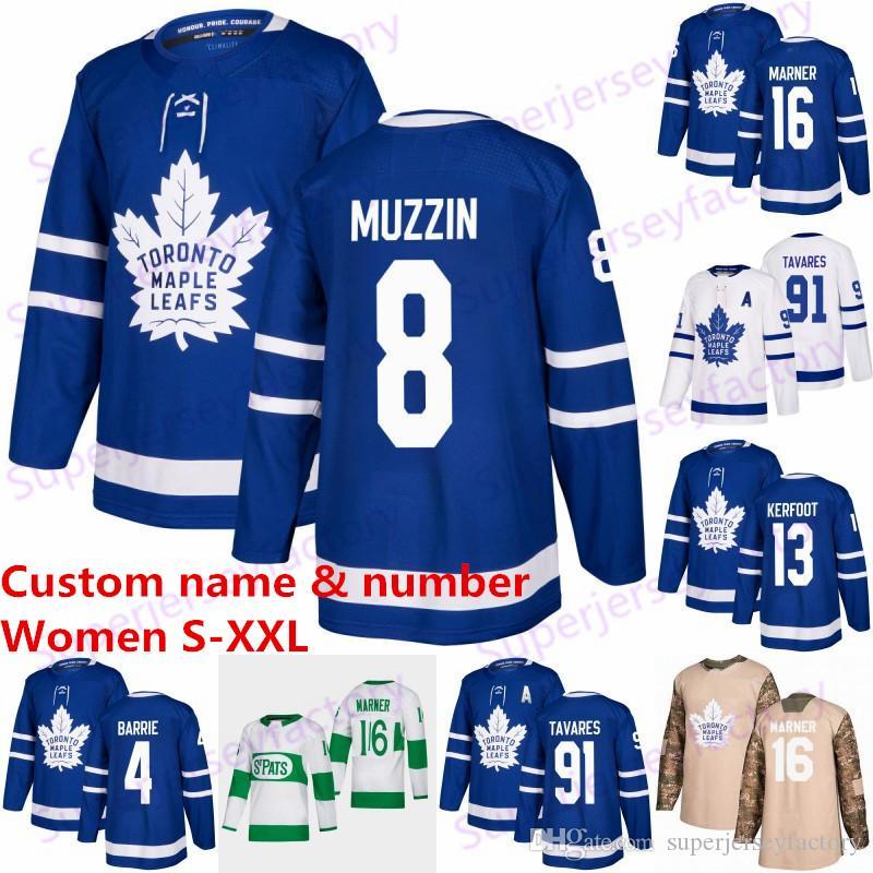 Женщины 16 Mitchell Marner Торонто Мэйпл Лифс Джерси 91 Таварес 34 Auston Matthews 29 William Nylander 31 Андерсен хоккей Джерси