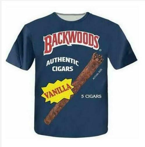 Casual uomo Womans Backwoods 3D HD Stampa T-shirt Estate a maniche corte T-shirt O-Collo Stile di modo Unisex Shirt Marca Tees WR057