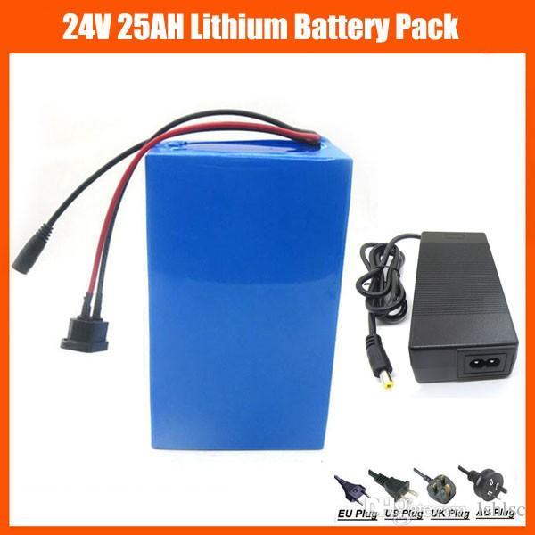 США ЕС нет налога 24V 500W EBike батареи 24V 25AH литий-ионный скутер батареи с ПВХ случае 30A BMS 29.4 V 3A зарядное устройство