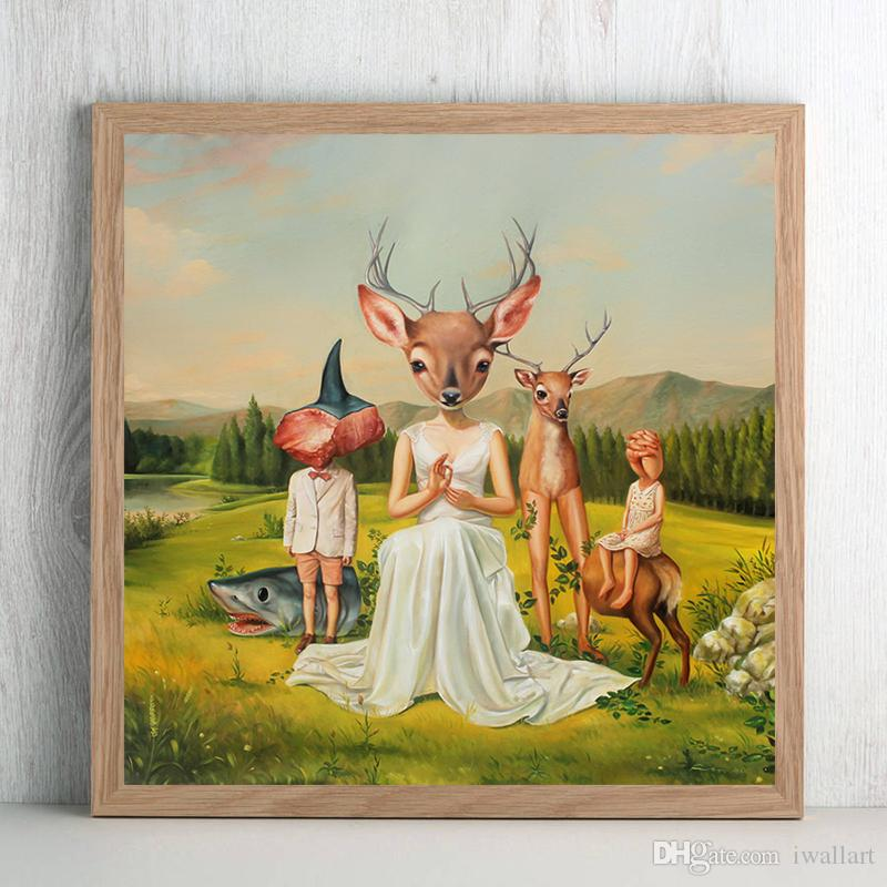 The Abstra Disegno di Mark Ryden Canvas Poster Wall Art Street Poster HD Stampa Immagine per Living Room Home Decor