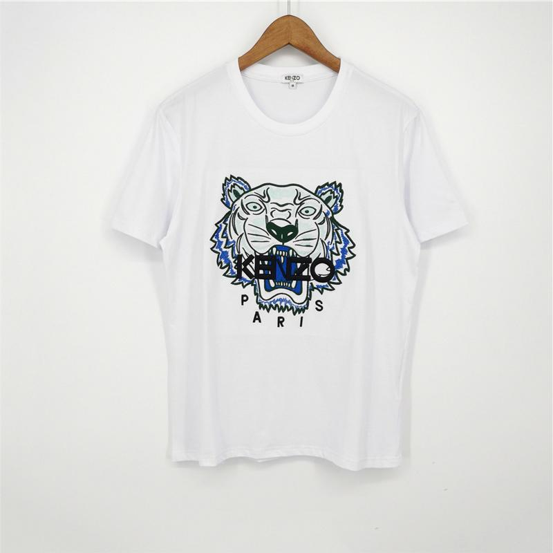 Модный бренд мужские дизайнерские футболки девушки футболка с коротким рукавом рубашки Тигр и буквы женские летние тройники высокое качество B1CRE2 2031705V