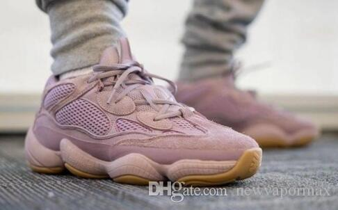 500 Мягкий Розовый Видение Кроссовки Kanye West Фиолетовый Дизайнер Волна Бегун 500 Дизайнер Спортивные Кроссовки