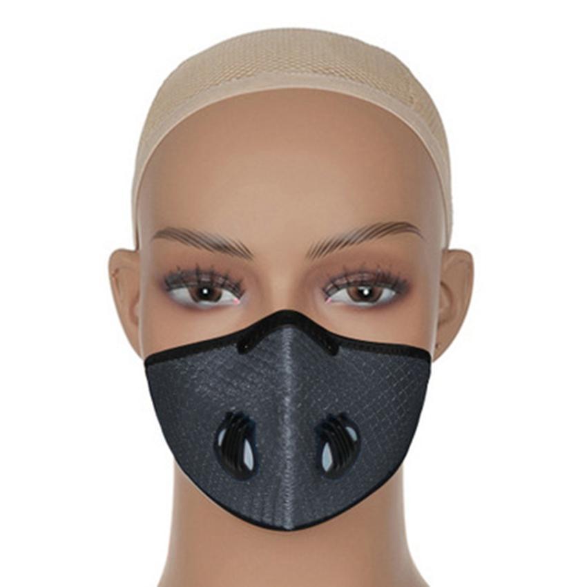 7 cores máscaras de bicicleta ao ar livre equitação à prova de poeira Anti Smog reutilizável malha respirável Ciclismo ZZA2383 Máscara Designer