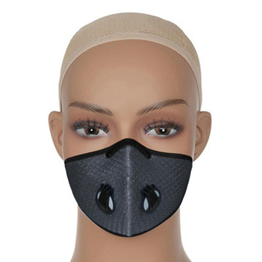 7 Farben Fahrrad-Gesichtsmasken Außenreitstaubdichte Anti Smog Reusable Breathable Ineinander greifen Radfahren Designer Maske ZZA2383
