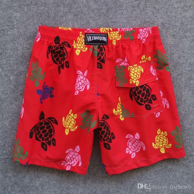 Vilebre Brand Shorts Homme Bermuda Vilebre Turtle Printing Homme Boardshort 100% à séchage rapide Maillots de bain pour hommes fzw1809