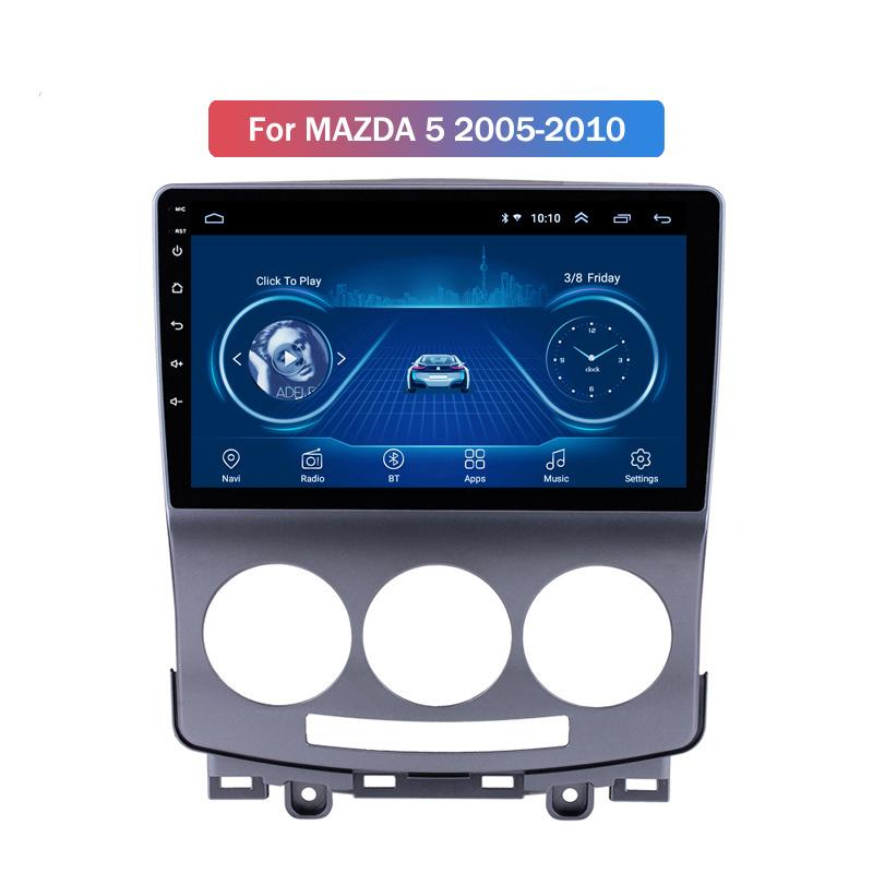 9 Inch Android 10 Car Dvd Gps Player For MAZDA 5 2005-2010 built-in Radio Video Navigation Bt Wifi