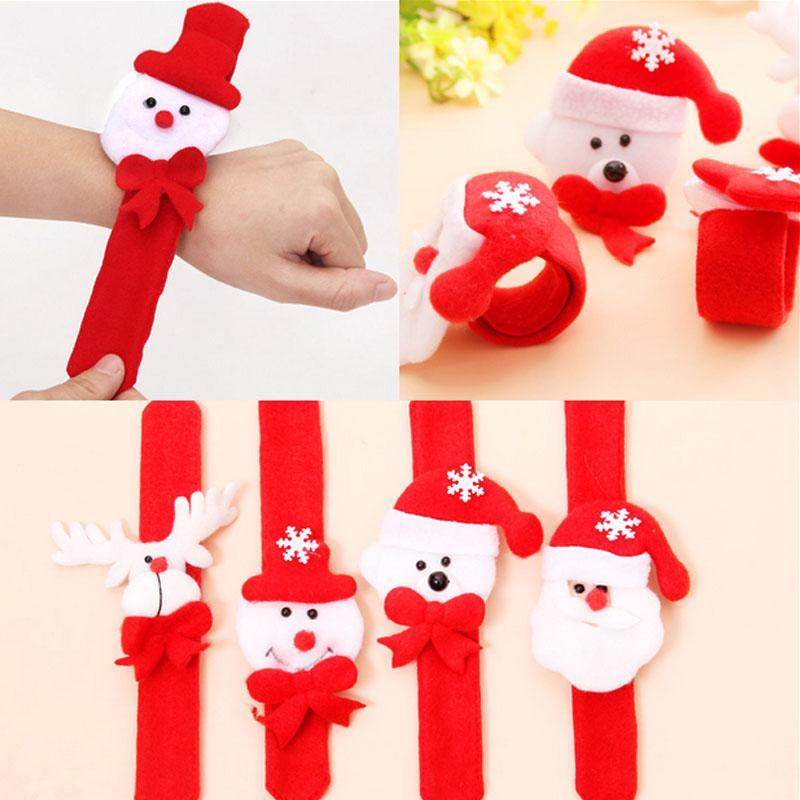 Bracciale natalizio Decorazioni natalizie Babbo Natale pupazzo di neve panno arte cerchio Forniture per feste di Natale regalo per bambini giocattolo