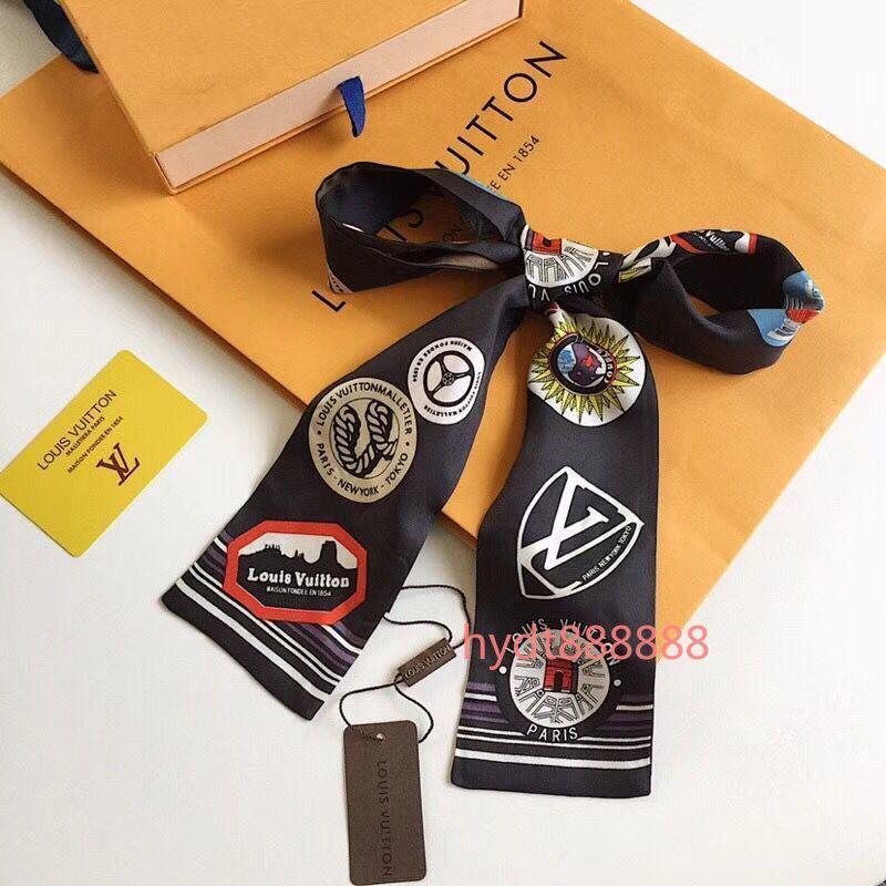 bolsa de lujo superior 2020 de la moda, venda, cinta de la marca de la muñeca, para que las mujeres crean una bufanda personalidad única 120 * 7 cm A002