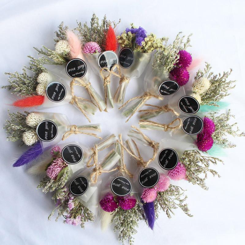 Dry Flower Mini Bouquet Artificial Crystal Grass For Valentine's Day Gift Decor DIY Girls Dried Flowers Photography Prop Korean