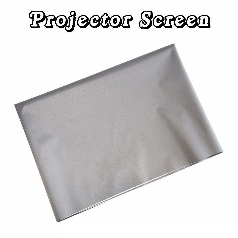 Rideau de projecteur Simple pliage en métal pliage anti-éclairage Ecrans de projection 60 72 84 100 120 pouces 16: 9 HD Portable Screen