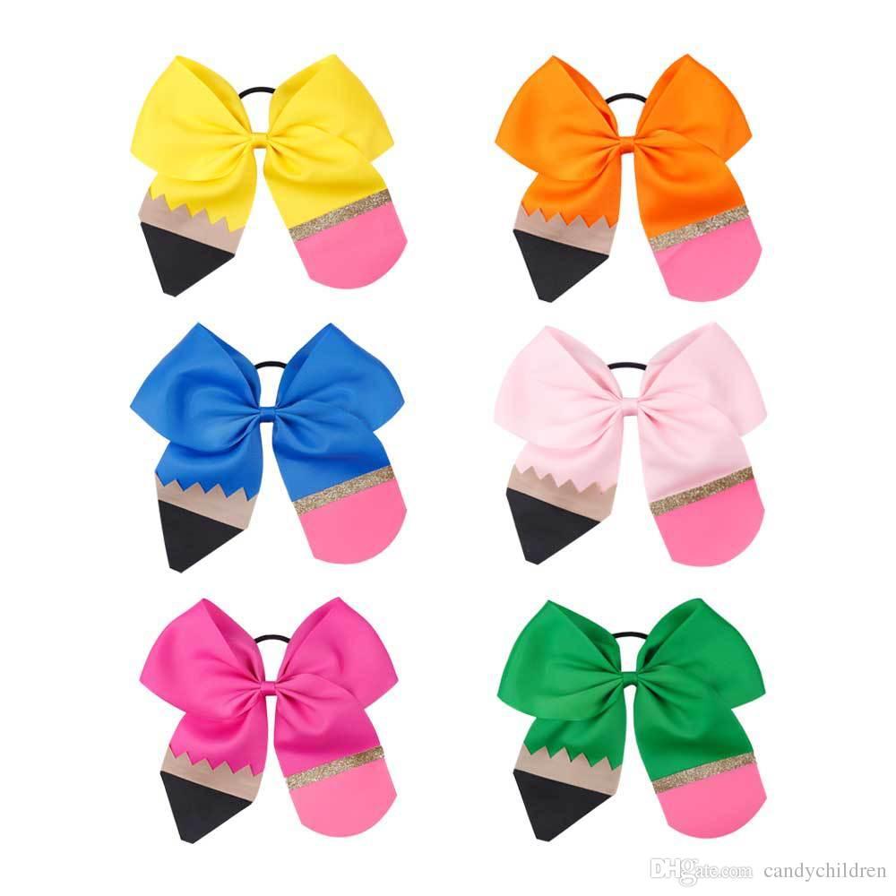 Crianças Bow Hairbands Voltar à estação da escola bebés lápis Acessórios de cabelo da moda popular, crianças Bow Headbands C871