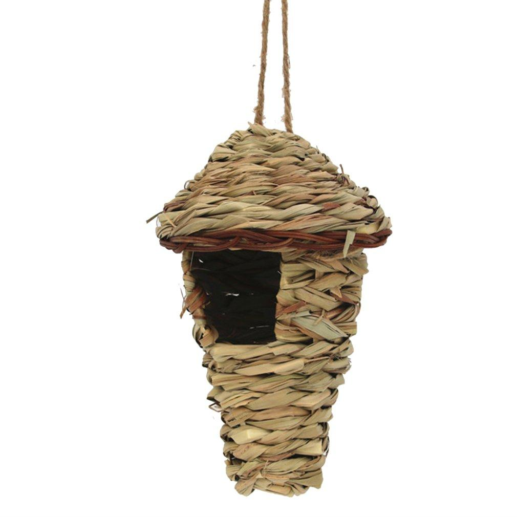 Hand-Knitted Creative Pet Bird Nest Straw Bird Nest Hibiscus Grass Gourd Bird House Gardening Decoration Pet Nest