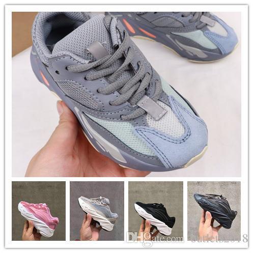 Zapatos para niños Wave Runner 700 Kanye West Zapatillas de running Niños Niñas Zapatilla de deporte 700 Zapatillas deportivas para niños Zapatos atléticos size28-35